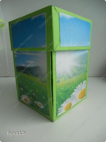 Сделала коробочку в подарок на день рождения сестре. Коробочка сделана по МК http://www.liveinternet.ru/users/pawy/post136538233/  Размеры изменила. Коробочка получилась, на мой взгляд, большевата: 8Х8Х12 см. фото 2