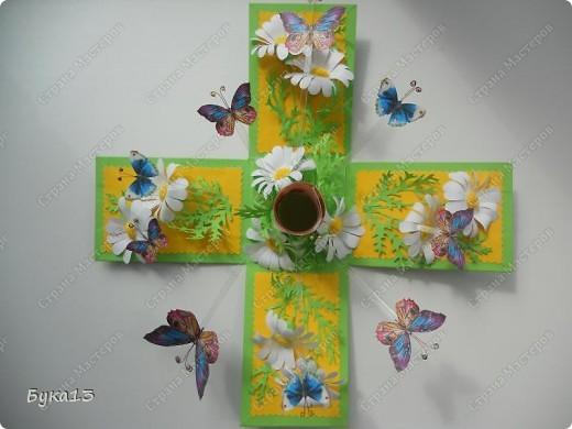 Сделала коробочку в подарок на день рождения сестре. Коробочка сделана по МК http://www.liveinternet.ru/users/pawy/post136538233/  Размеры изменила. Коробочка получилась, на мой взгляд, большевата: 8Х8Х12 см. фото 3