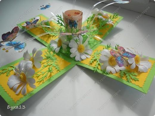 Сделала коробочку в подарок на день рождения сестре. Коробочка сделана по МК http://www.liveinternet.ru/users/pawy/post136538233/  Размеры изменила. Коробочка получилась, на мой взгляд, большевата: 8Х8Х12 см. фото 4