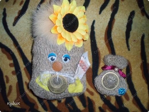 вот такие мешки и магнитики я делала в подарок родным и друзьям:))))) фото 1