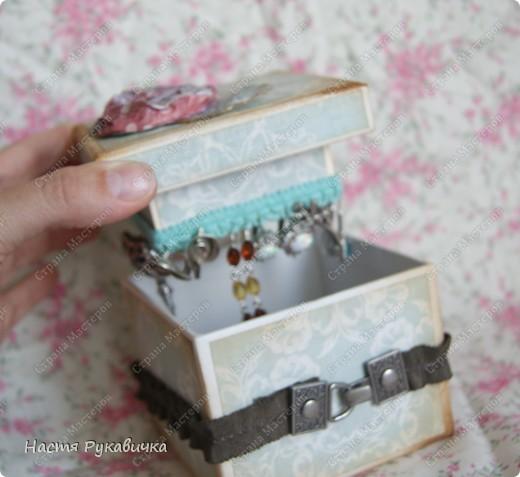 Здравствуйте  мои  дорогие!!!!  Сегодня  я  к  вам  с коробочкой  для  серёжек!  Работа  над  ней  доставала  мне  большое  удовольствие! фото 5
