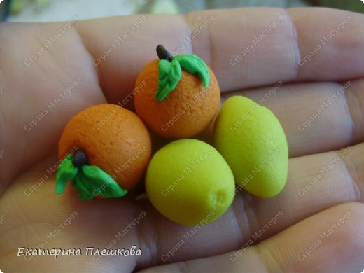 МК кожуры лимона из пластики. фото 1