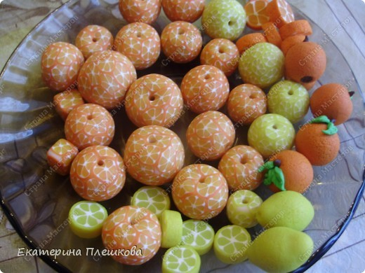 МК лимончика (апельсинчика) из пластики фото 1