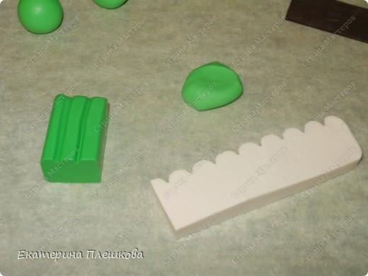МК яблока в разрезе из пластики. фото 2