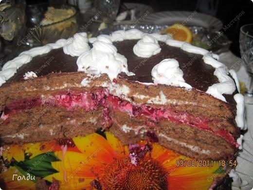 на свой день рождения испекла безумно вкусный торт. Остановила выбор на нём.потому что просто банально некуда было девать вишню, морозилка уже забита,хотя заготовки только начинаю делать) вот и решали избавиться хотя бы от  полкило,именно столько нужно в торт. Всем кто любит кислинку в сочетании со сладким очень рекомендую. Я кулинаром опытным себя не считаю, поэтому от рецептуры не отходила ни на йоту. Рецепт Анастасии Скрипкиной http://www.say7.info/cook/recipe/195-Tort-Vishnevyiy.html фото 2