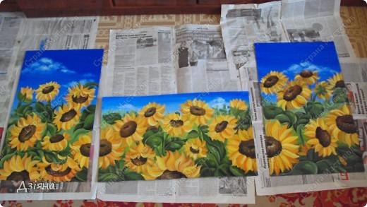 Работа выполнена маслеными красками. размер каждой картины 30Х60. фото 1