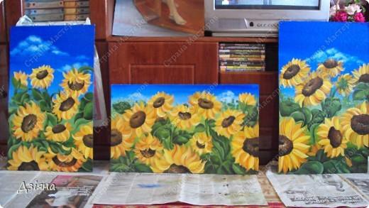 Работа выполнена маслеными красками. размер каждой картины 30Х60. фото 4