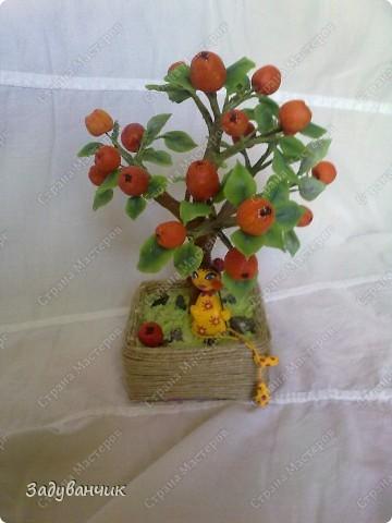Вот и моё деревце из холодного фарфора. Огромное спасибо Светлане SVET1301 ( http://stranamasterov.ru/user/68349 ) за МК!   фото 4