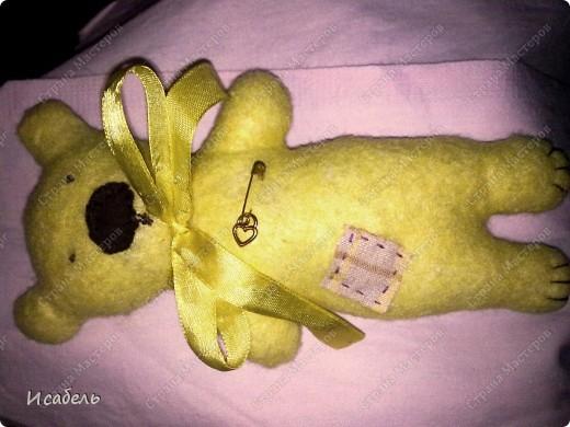 Мишка своими руками Этого мишку я сшила в подарок на Новый год. Вроде бы получилось не плохо. фото 1