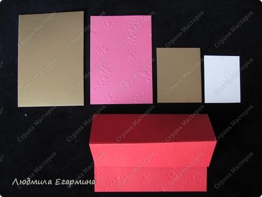 """Предлагаю сделать вот такую открытку """"С годовщиной свадьбы!"""". Для создания использовано 4 цвета: молочный, розовый, красный, золотой. фото 2"""