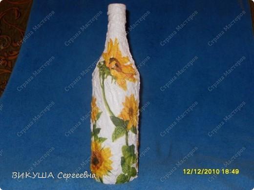 Бутылка в подсолнухи фото 1