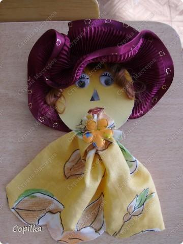 """Мы с подругой к прошлому учебному году делали кукольный театр. Сказка """" Красная шапочка"""" ( ну и что,что на будённовца похожа,зато ОНА делала , а я - только осуществляла общее руководство!) фото 8"""
