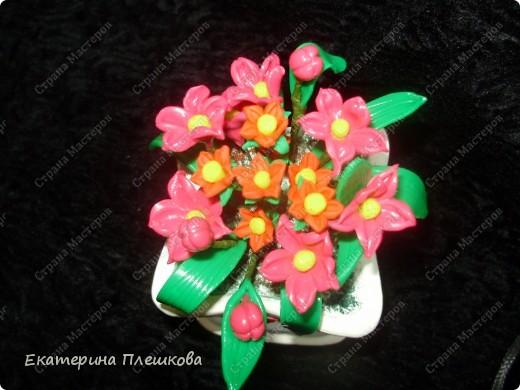 Первоцвет из пластики. фото 1