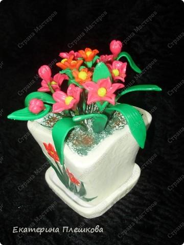 Первоцвет из пластики. фото 3