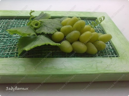 Виноград из холодного фарфора фото 5