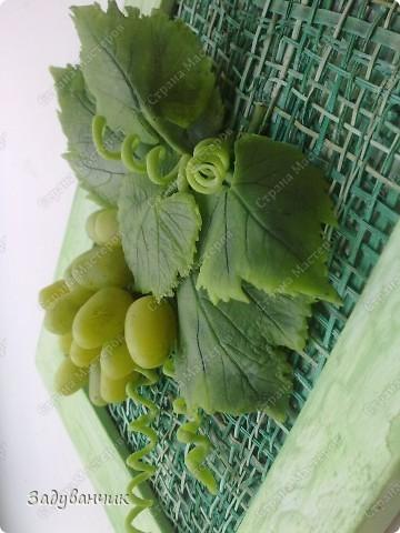 Виноград из холодного фарфора фото 4