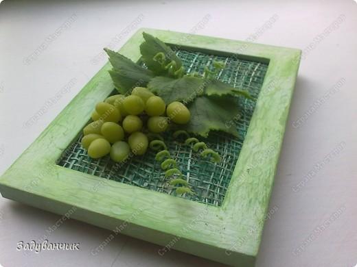 Виноград из холодного фарфора фото 1