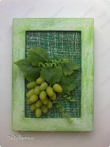 Виноград из холодного фарфора фото 2