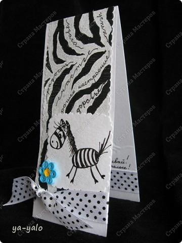 """Из остаточков))) Зебра - черновичок к """"Цветной зебре""""  фото 1"""