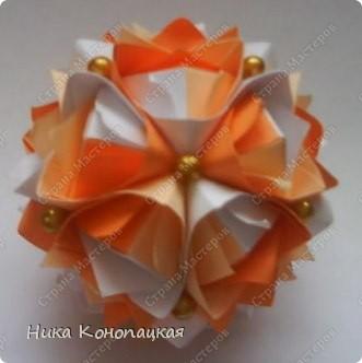 Name: Lotus Crown  Designer: Mariya Sinayskaya  Parts: 30  Paper: 8*8 cm Final height: 7 cm  Joint: no glue фото 1