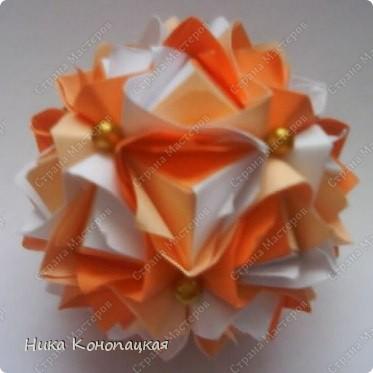 Name: Lotus Crown  Designer: Mariya Sinayskaya  Parts: 30  Paper: 8*8 cm Final height: 7 cm  Joint: no glue фото 2