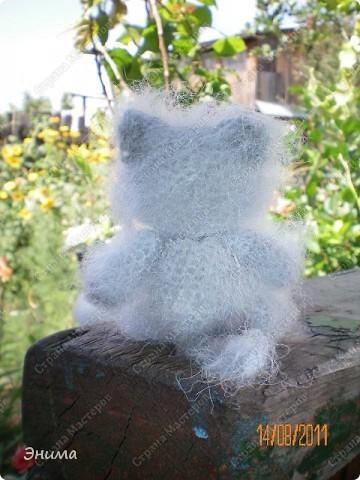 Очередноя поездка на дачу - и снова вязанная игрушка. Котик по имени Цезарь (потому, что похож на одного знакомого Цезаря:))) фото 3