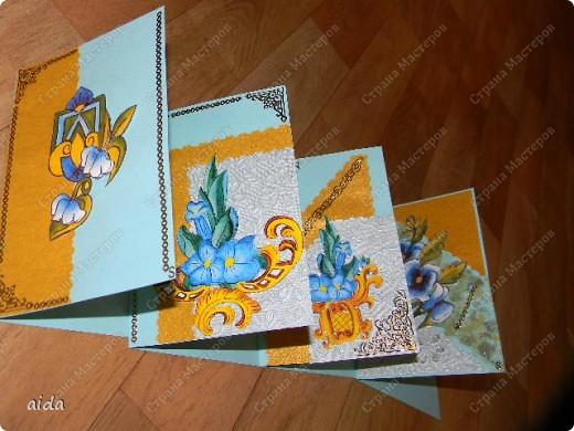 конечно, название я придумала пафосное)))  это мой первый опыт в изготовлении серии открыток...весь материал удалось подобрать в новом магазине художественных товаров, даже карты с объемной аппликацией фото 7