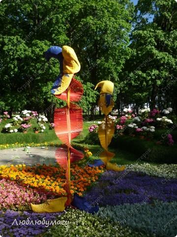 В Санкт- Петербурге в Михайловском саду ежегодно проводится фестиваль ландшафтного искусства. Хочу вам, дорогие мастерицы, показать, что мы там увидели в этом году. фото 7