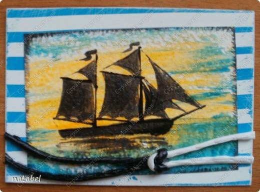 Очень долгая работа. Идея мужа, а исполнение моё. Всё нарисовано вручную, изучила завязывание морских узлов и вот... итог. фото 6