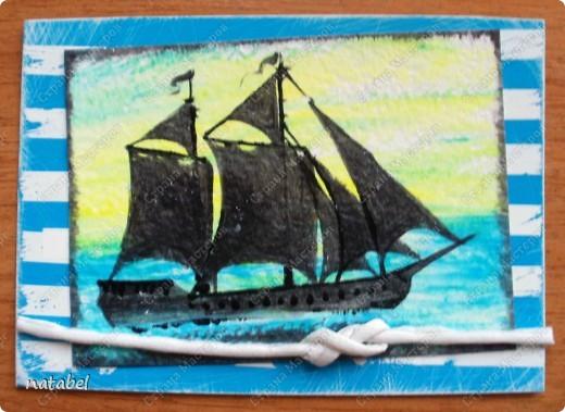 Очень долгая работа. Идея мужа, а исполнение моё. Всё нарисовано вручную, изучила завязывание морских узлов и вот... итог. фото 9