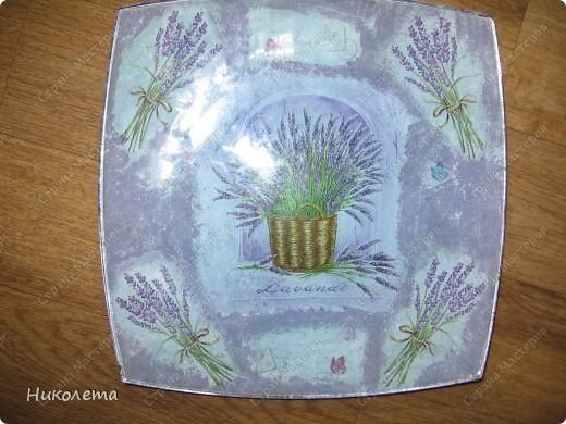 Первая тарелочка с первым обратным декупажем фото 8