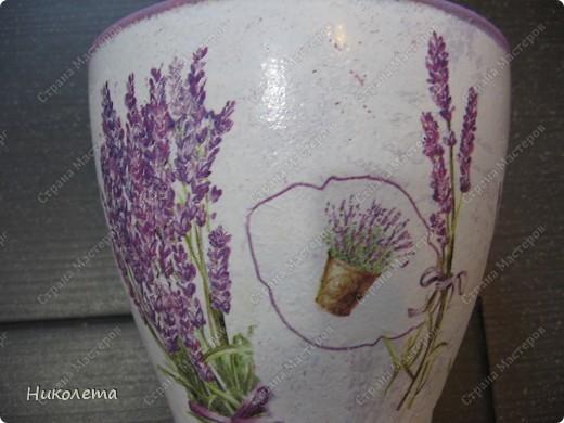 Ну вот и я добралась до лаванды, ваза стеклянная, (была прозрачной) фото 5