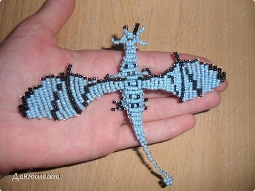 Своего дракончика делала по мк Бригантины ,очень большое спасибо автору за мк! Вид сверху. фото 1