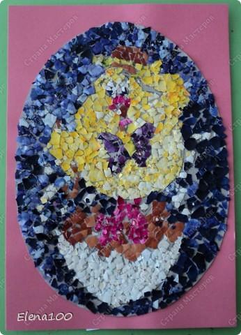 Вот такие работы из яичной скорлупы мы с детьми выполняли к пасхе. фото 2