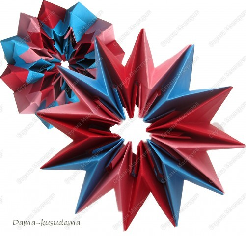 Идею взяла тут https://stranamasterov.ru/node/25534?c=favorite Как делать тут http://www.spitenet.com/origami/Fireworks-v.shtml фото 1