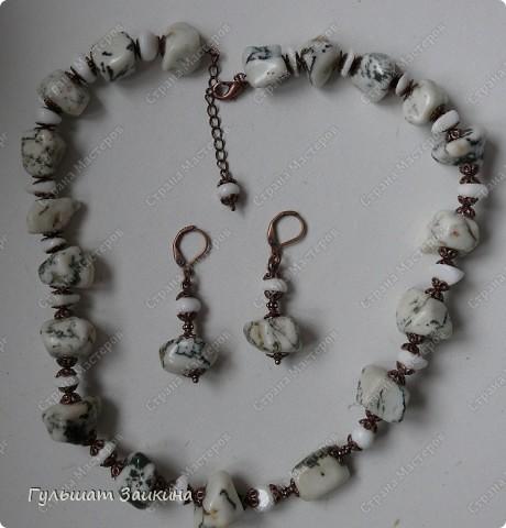 Комплект из натуральных камней. фото 1