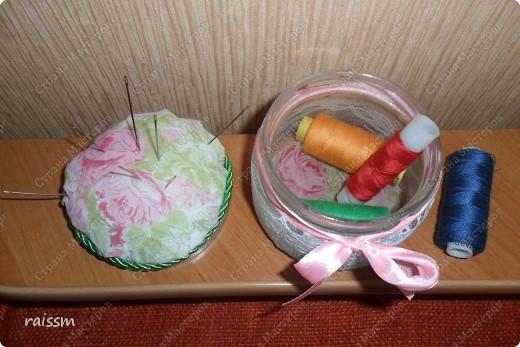 Игольница-кактус сшита из кухонных салфеток. фото 3