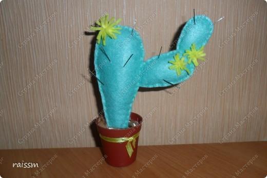 Игольница-кактус сшита из кухонных салфеток. фото 1