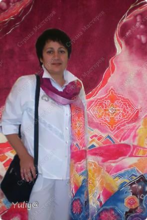 """платье """"Маки"""", натуральный шелк, атлас, свободная роспись по ткани  фото 12"""