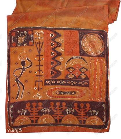 """платье """"Маки"""", натуральный шелк, атлас, свободная роспись по ткани  фото 8"""