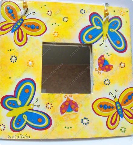 Сегодня ещё и декупаж у меня)))) Зеркало Икеа в подарок для тетки мужа на ДР, а так же салфетки, краска акриловая, контуры, лак глянцевый фото 1