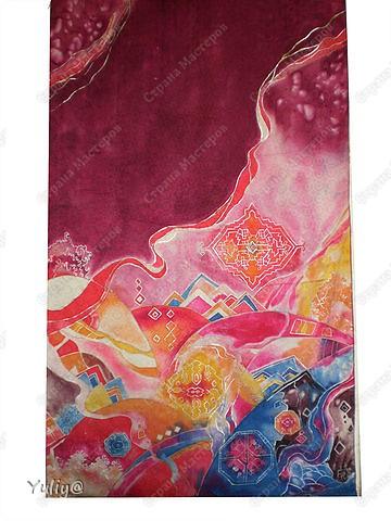 """платье """"Маки"""", натуральный шелк, атлас, свободная роспись по ткани  фото 11"""