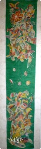 """платье """"Маки"""", натуральный шелк, атлас, свободная роспись по ткани  фото 4"""