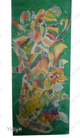 """платье """"Маки"""", натуральный шелк, атлас, свободная роспись по ткани  фото 5"""