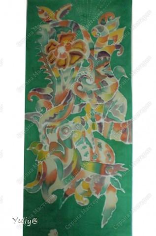 """платье """"Маки"""", натуральный шелк, атлас, свободная роспись по ткани  фото 6"""