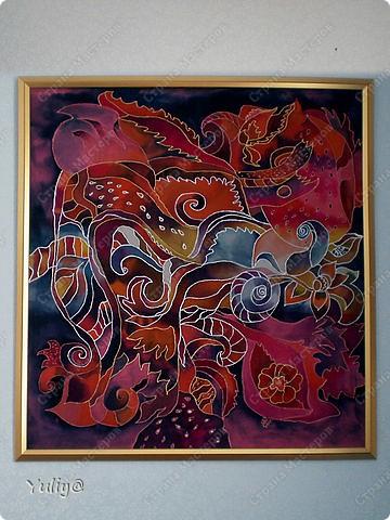 """платье """"Маки"""", натуральный шелк, атлас, свободная роспись по ткани  фото 13"""