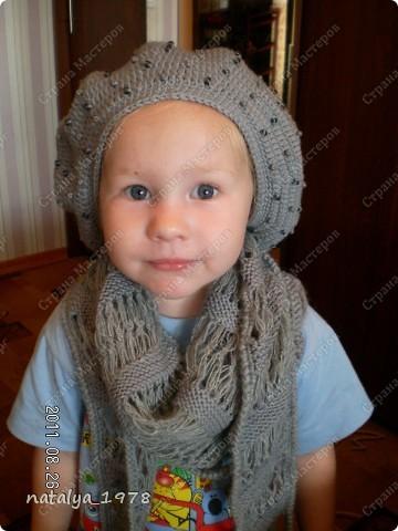 Вот и мой шарфик,принимайте.Спасибо Ирине-Голубке за Презент,если бы не она,я бы еще долго думала, что связать в комплект к моему берету . фото 6