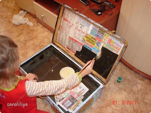 Вот такой чемодан у меня получился, а как я его оформила описываю ниже: фото 9