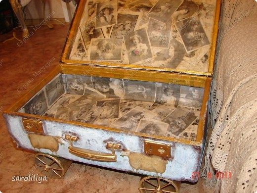 Вот такой чемодан у меня получился, а как я его оформила описываю ниже: фото 11