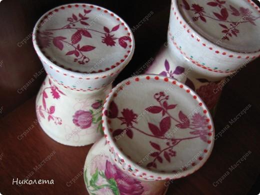 Опять пустые кофейные баночки немножко приукрасила фото 3